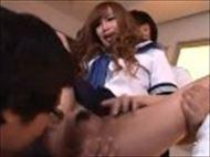 <GALムービー>柴咲エリカ 放課後の教室で同級生たちと3PSEXに身悶えるビッチなGAL☆