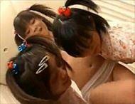 <レズビアンムービー>3人のロリ顔小娘たちが無邪気にイチャツキながら全身をナメまわし身悶える