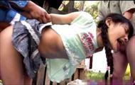 <レイプ動画>初芽里奈 三つ編みツインテールの美少女がパイパンマ●コを激しく突きたてられ3Pレイプされちゃうw||レイプ,美少女,パイパン,顔射,3P,鬼畜,童顔,ツインテール,初芽里奈