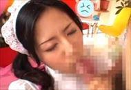 杉崎夏希がメイド姿に着替えWフェラで連続顔射される||コスプレ,手コキ,メイド,顔射,企画,女子アナ,ブッカケ,杉崎夏希