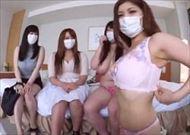 <乱交動画>マスクを付け...