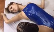 <ギャル動画>競泳用水着...